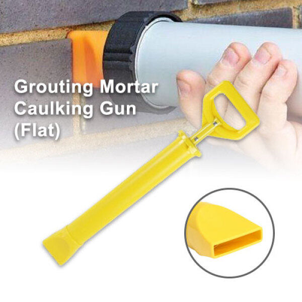 Flat Grouting Mortar Caulking Gun Ready Stock Mortar Pointing Tool Sprayer Flat Mouth Applicator for Cement Lime