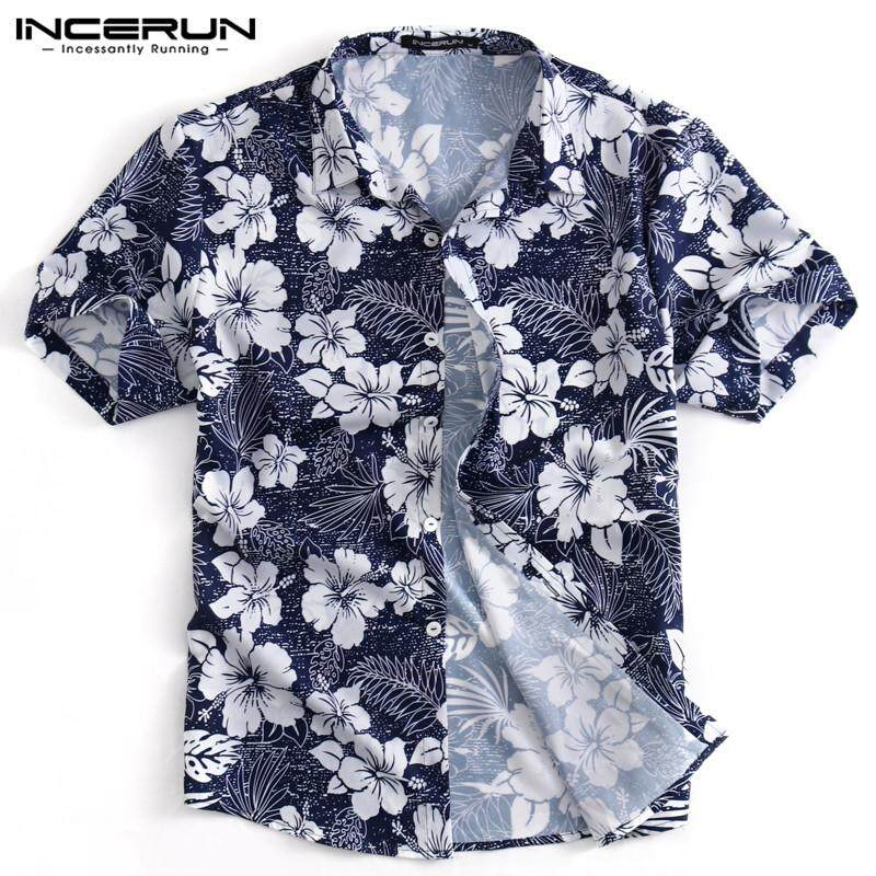 d5f64d445 Specifications of INCERUN Men's Boy Short Sleeve Hawaiian Shirts Summer  Beach Holiday Fancy Floral Tops