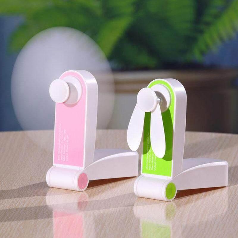 Kobwa Mini Fan Foldable Hand Pocket USB Fans Rechargeable Electric Personal Hand Bar Desktop Fan