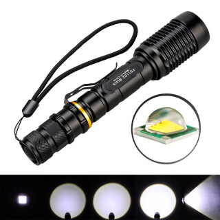 Đèn Pin LED 350000LM Chống Nước Đèn Pin Chiến Thuật Ngoài Trời Có Thể Phóng To thumbnail
