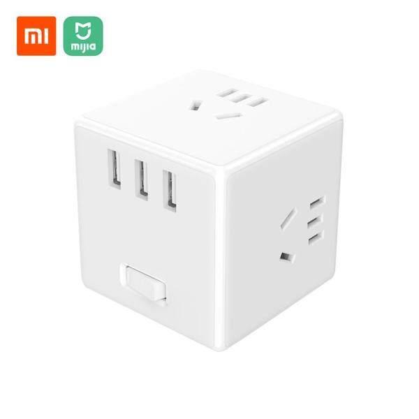 Ổ Cắm Xiaomi Mijia Magic Cube, Ổ Cắm Đa Năng Sạc USB, Bộ Chuyển Đổi Nguồn 6 Cổng, Ổ Cắm Chuyển Đổi, Ổ Cắm Tiết Kiệm Không Gian Với Chỉ Báo 100-240V