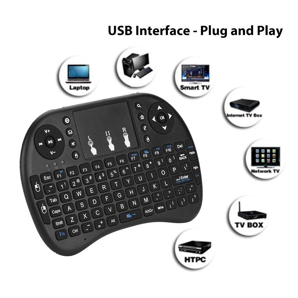 aad9d6475e9 Portable 2.4GHz Mini Wireless Keyboard Handheld Touchpad Remote Control  with 2.0