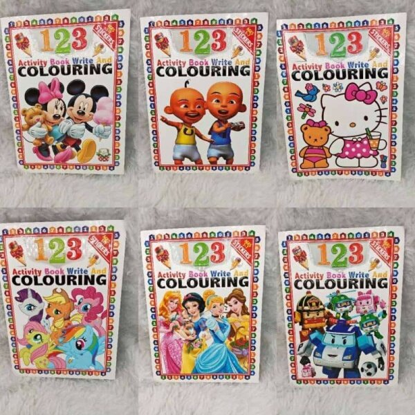 123 ACTIVITY BOOK WRITE AND COLOURING (BUY 5 FREE 1 BOOK) Malaysia