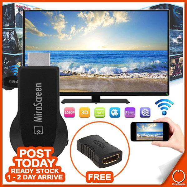1080p Mirascreen Screen Mirror Display Ios Android Like Mira Chrome Cast Anycast By Phone Shop Dot My.