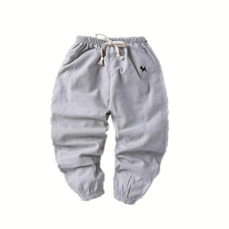 31d1091435 2019 Summer Baby Kids Boys Casual Trousers Children Long Pants Cotton Solid  Bottoms Clothing