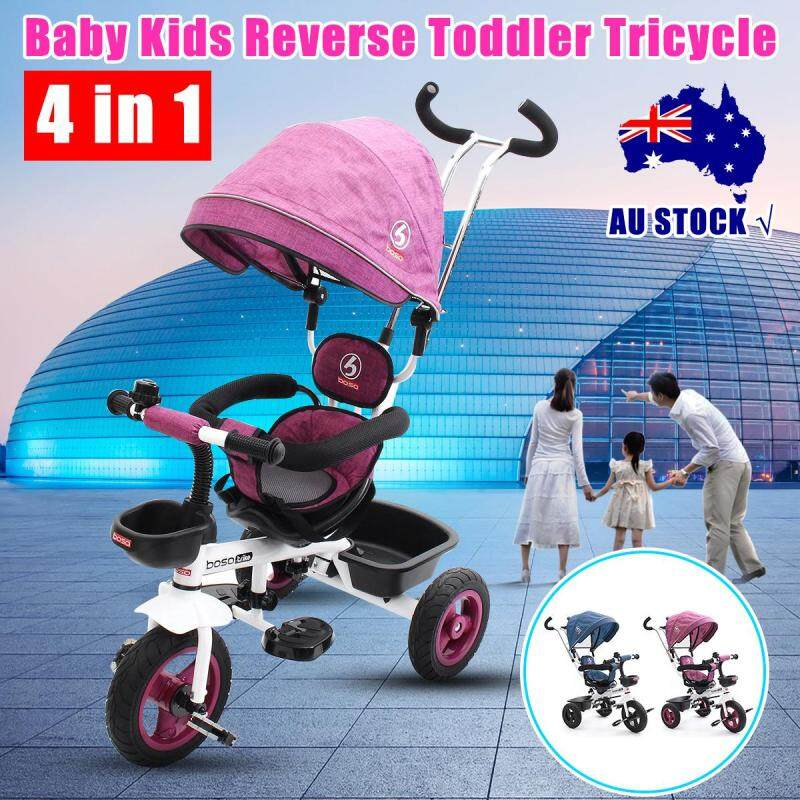 Kid Toddlers Tricycle Bike Trike Handle Stroller Bearing weight: 25KG Packing size: 58*37*38cm Singapore