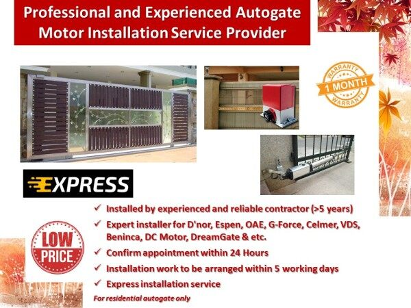 Professional and Experienced Autogate Motor Installation Service Provider - Standard Installation for 1 Autogate Motor System