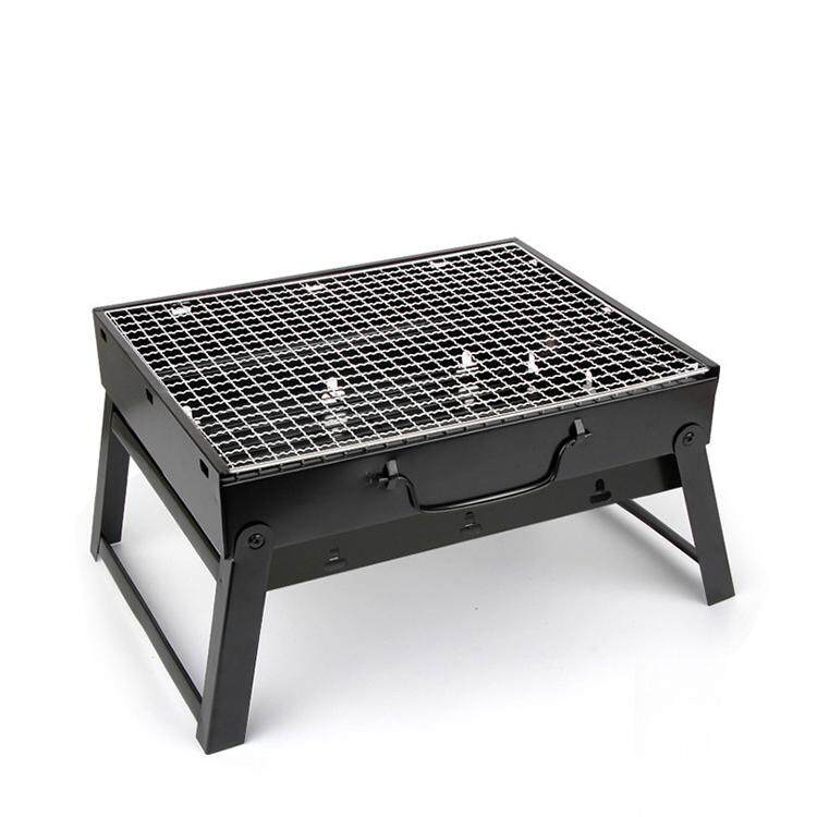 BBQ Grill Foldable Portable Outdoor Folding Barbeque Charcoal Picnic Camping Cook (Small 1-4 person)