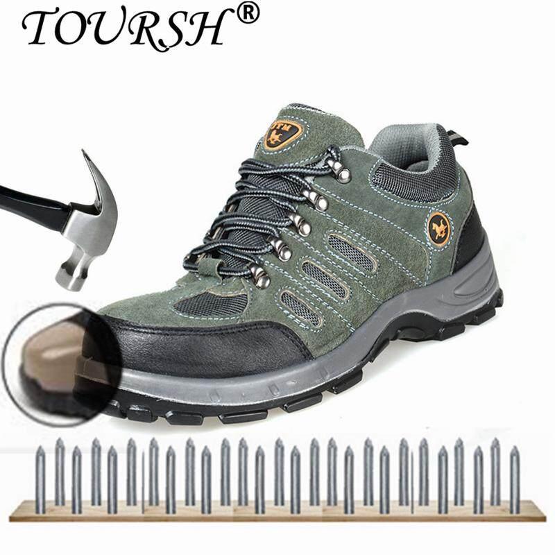 Toursh รองเท้าเพื่อความปลอดภัยสำหรับผู้ชายหนังเหล็กรองเท้าสำหรับทำงานผู้ชายฤดูหนาว Warm ความปลอดภัยรองเท้าสวมใส่รองเท้าทำงานสำหรับชาย By Toursh.