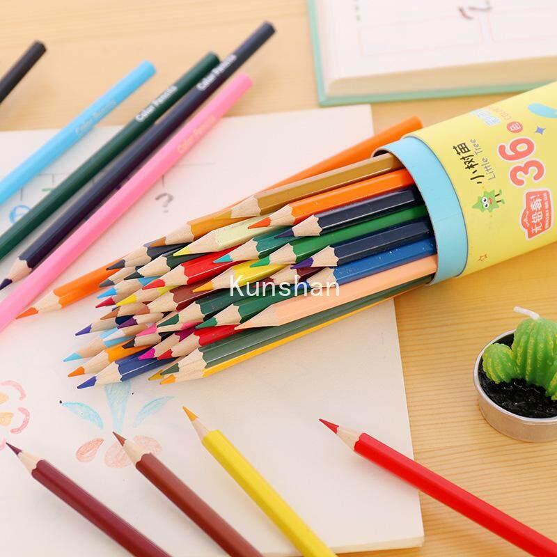 Kunshan Kreatif Kartun Pohon Muda Besar Lidah Anjing Warna Memimpin Pensil Warna 12/18/24/36 Warna