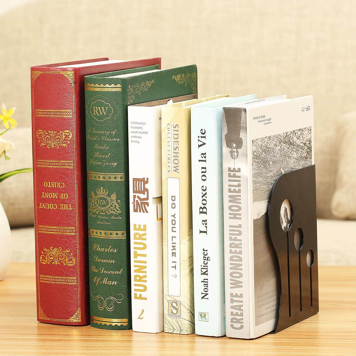 Bookends Office Metal Adjustable Non-slip Study Decoration Bookends