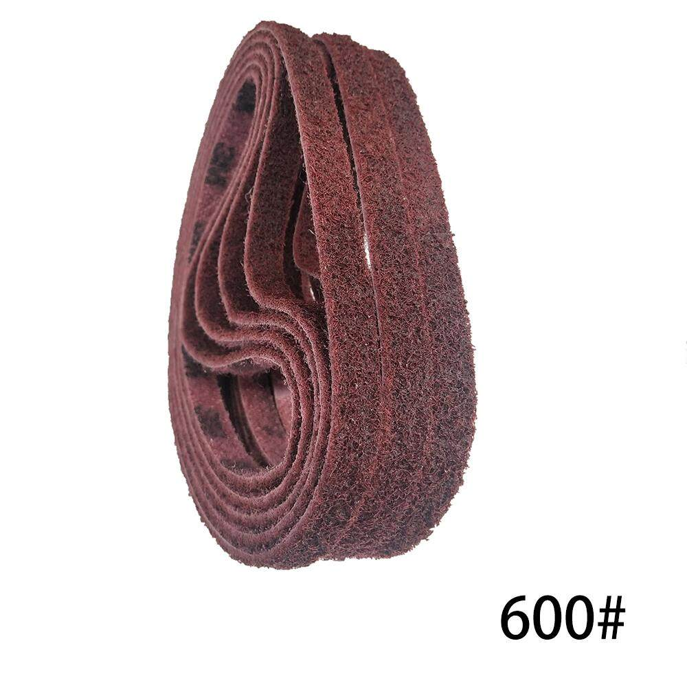 10 PCS 520 x 15mm 600 Grits Polishing Nylon Belt Sand Belt for Stainless Steel Wood Polishing Deburring