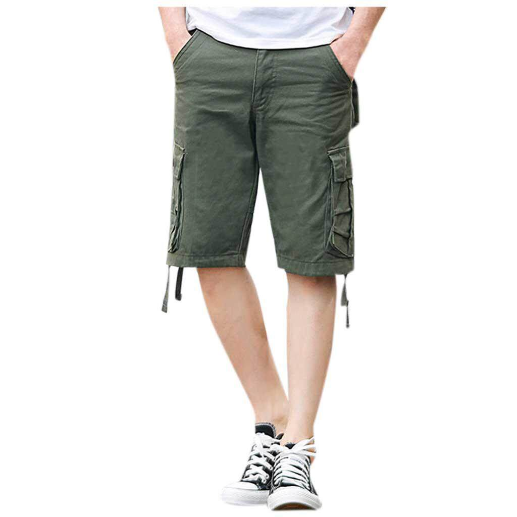 (BAIBAO)Men's  New Style  Cotton Multi-Pocket Overalls Shorts Fashion Pant
