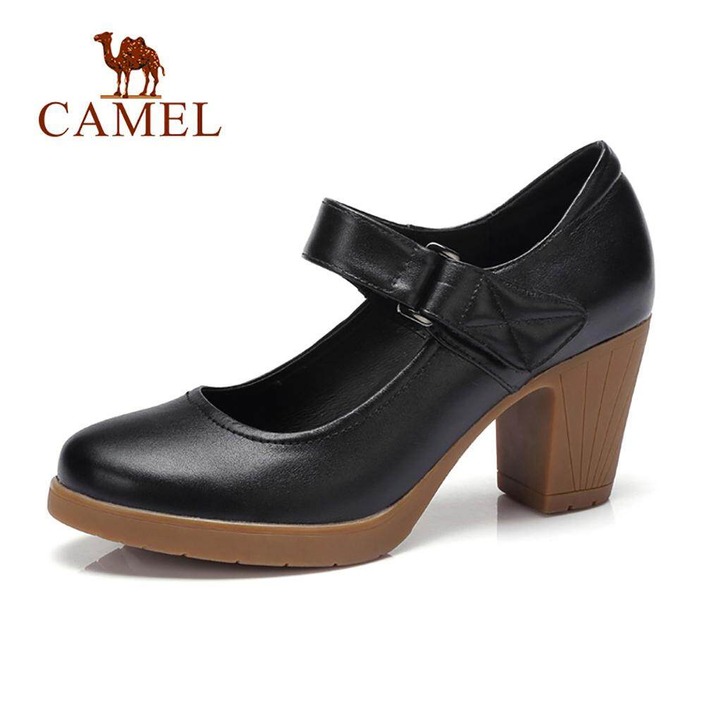 b4c894f94 China. Camel women's shoes spring high heels small shoes Korean version of  the wild waterproof platform thick