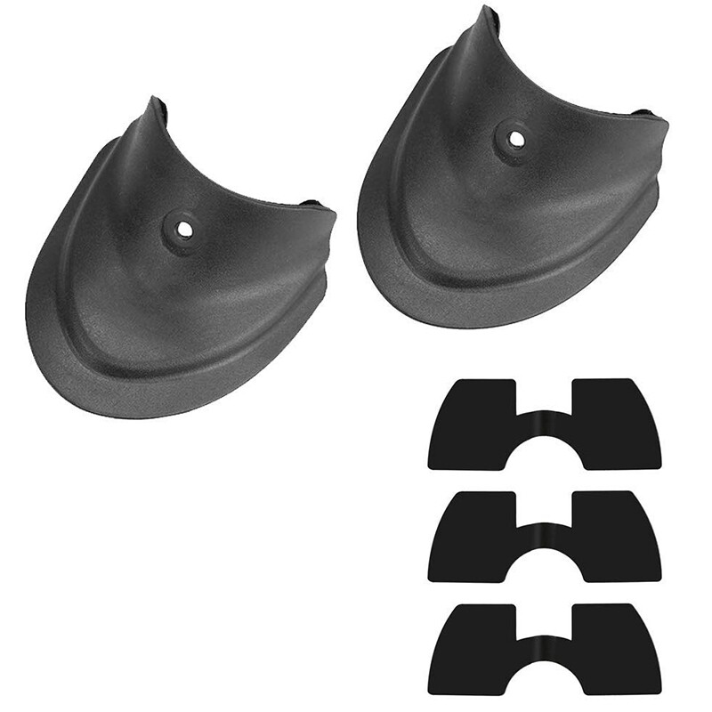 5 Piece Include 1 Pair Splashproof Fender Fish Tail and 3 Pieces Vibration Dampers for Xiaomi M365/ M365 Pro Scooter Replacement Part Accessory