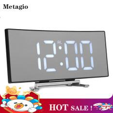 【HOT】Metagio 1 Cái Đồng Hồ Báo Thức Kỹ Thuật Số LED Gương Hiển Thị Nhiệt Độ Bảng USB Cho Phòng Ngủ