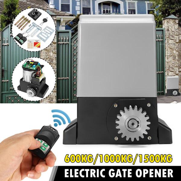 220V 550W Electric Sliding Gate Opener 1000KG Automatic Motor 2 Remote Kit Heavy Duty