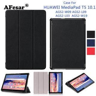 Da PU Dành Cho Máy Tính Bảng Huawei MediaPad T5 AGS2-W09 L09 L03 W19 10.1 Máy Tính Bảng Siêu Mỏng Đứng bao da dành cho máy tính bảng Huawei MediaPad T5 10 Ốp lưng thumbnail