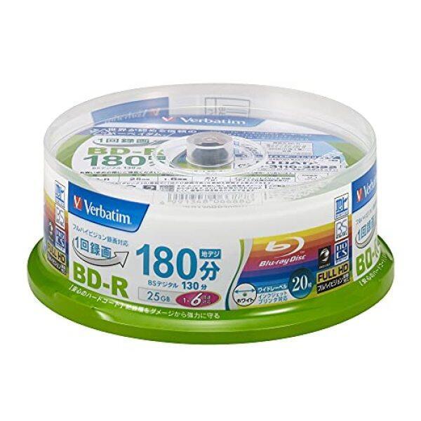 Verbatim Verbatim once recorded for a Blu-ray disc BD-R 25GB 20 sheets white printable single-sided, single-layer 1-6 speed VBR130RP20SV1
