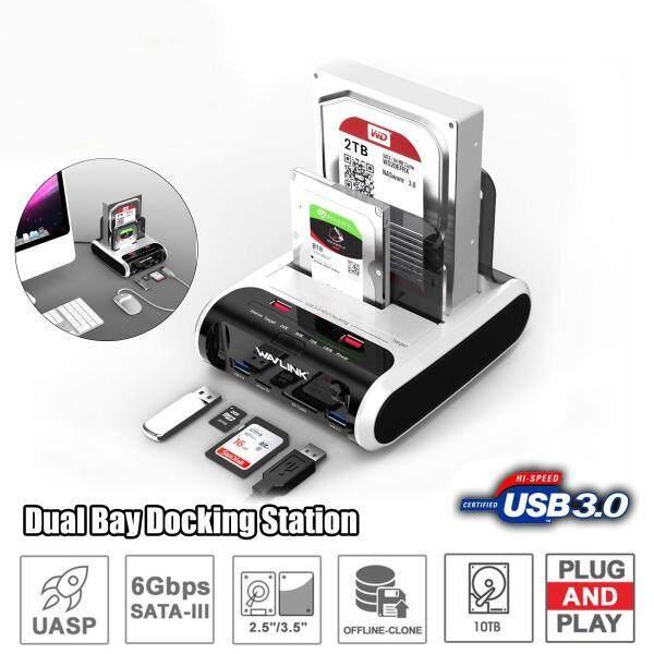 【Free Shipping + Super Deal】Wavlink USB 3.0 SATA HDD Docking Station for 2.5  and 3.5  SATA HDD Hard Drive Disk Clone Holder Dock HDD Enclosure-EU Plug