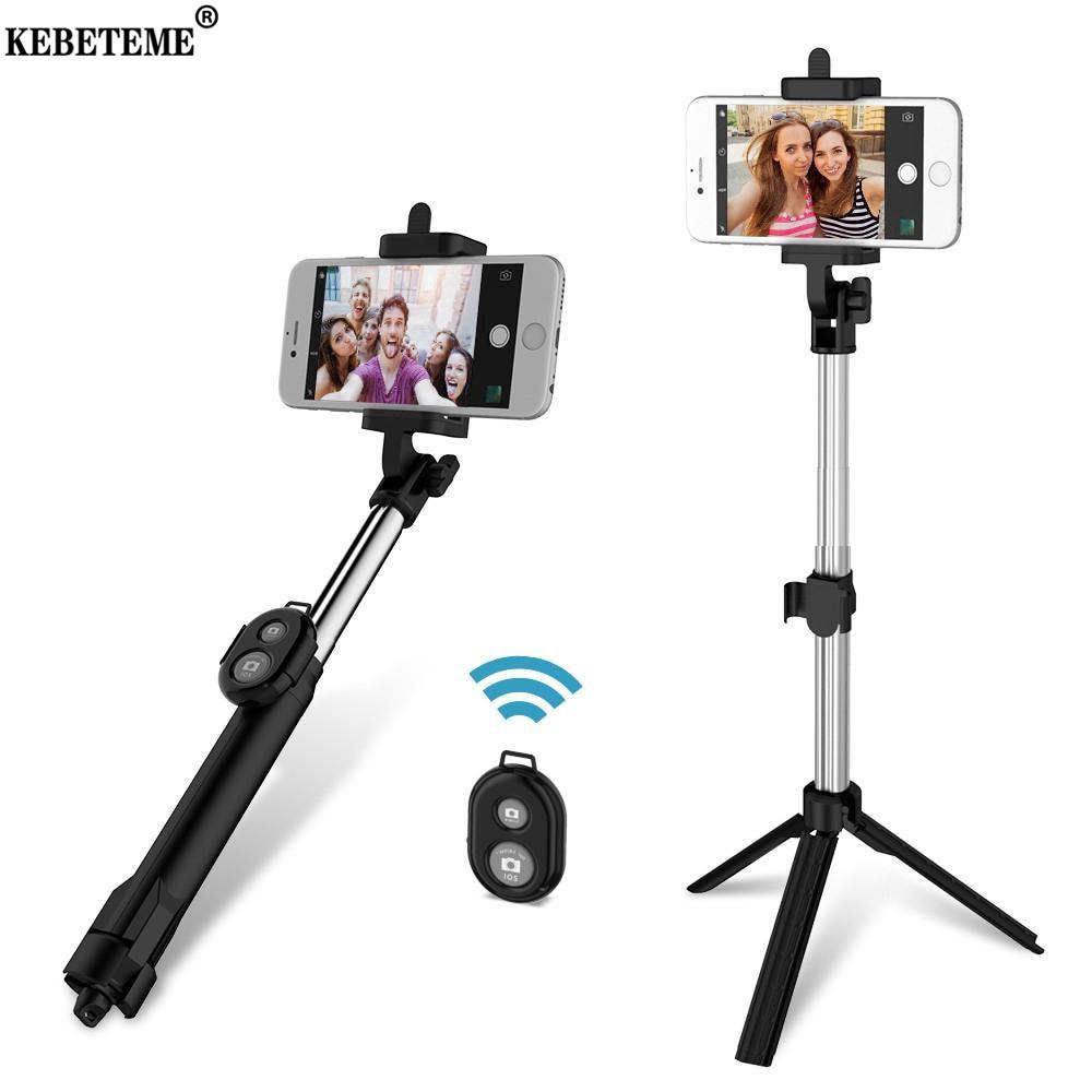 Kebeteme Bluetooth Không Dây 4.0 Màn Trập Từ Xa Ảnh Tự Sướng Gậy Chụp Ảnh Selfie Tripod Cho IOS Điện Thoại Thông Minh Android
