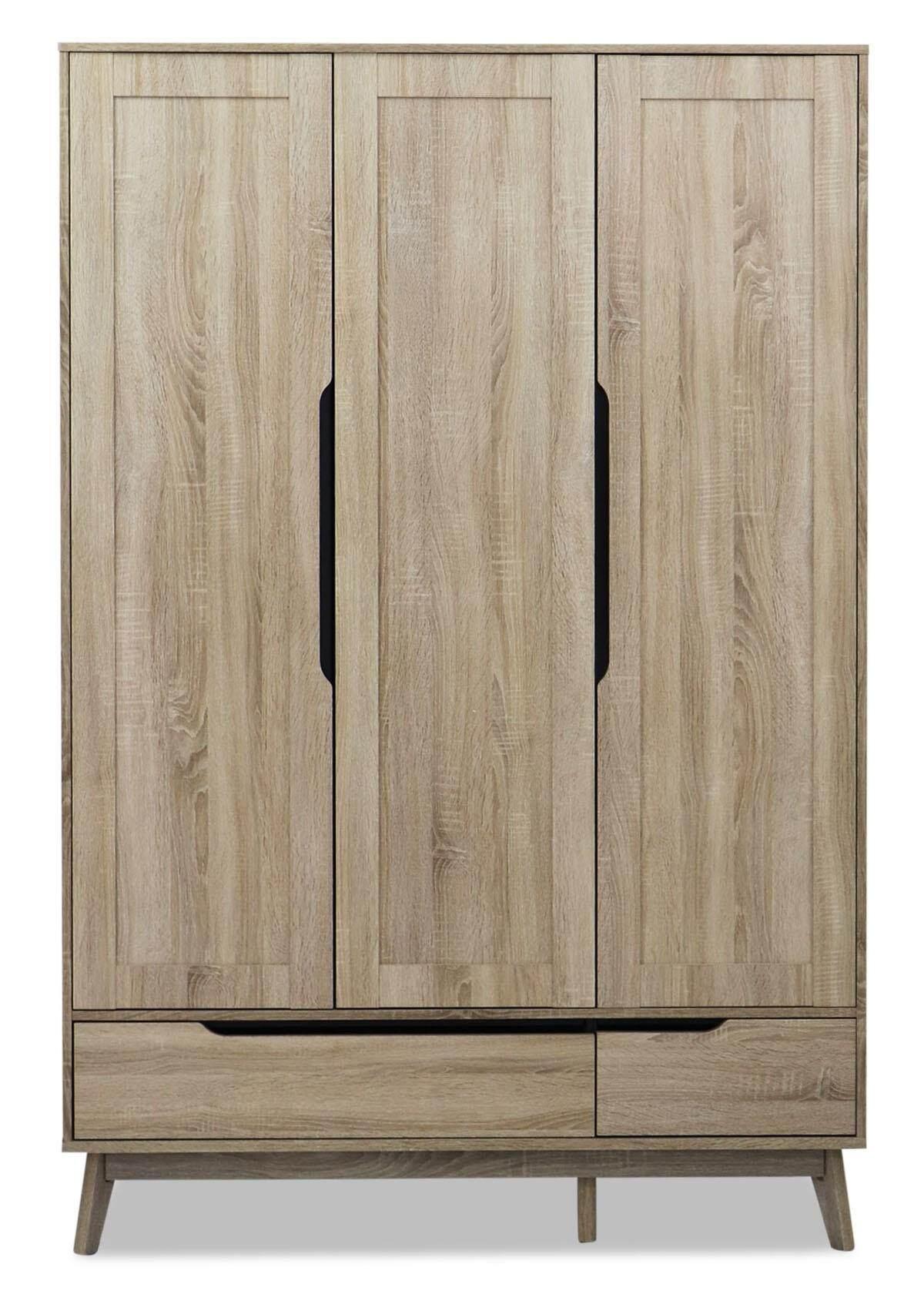 Fella 3 Door Wardrobe / Cloth Storage Cabinet / Swing Door Cabinet / Almari Kayu / Almari Baju L1330MM X W600MM X H2000MM