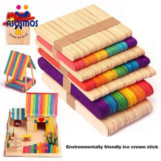 ASM 50 Chiếc Gậy Thủ Công Gỗ Màu Que Kem Gỗ Trẻ Em Tự Làm Thủ Công Dụng Cụ Làm Bánh Lolly thumbnail