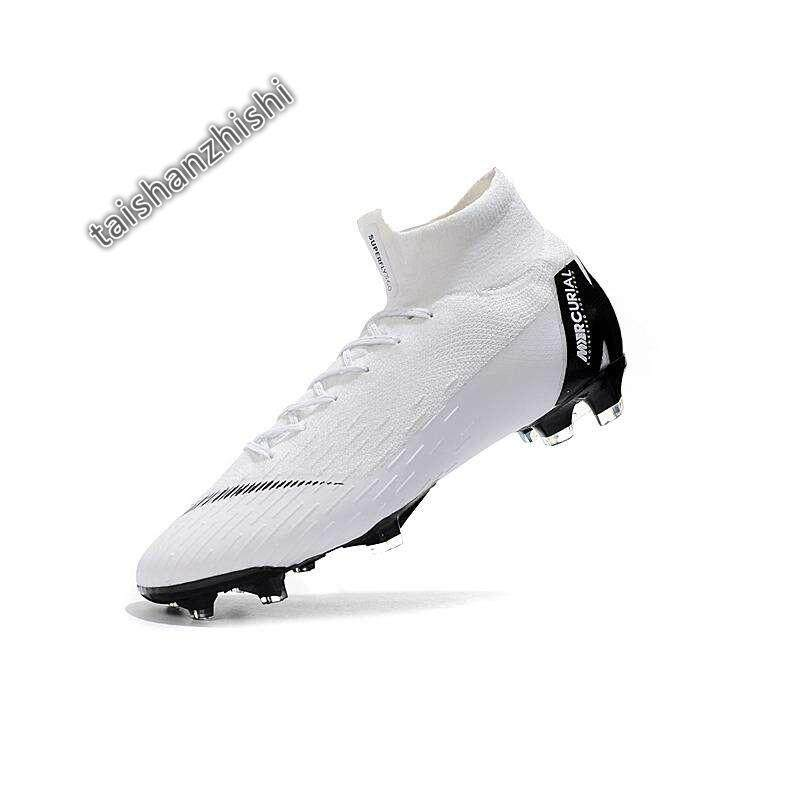 c8695126c37 New High Ankle Football Boots Superfly Original Knit 360 Elite FG Men's  Soccer Shoes VI 12 CR7 Cleats Nova Chuteira Futebol Profissional Adulto ...