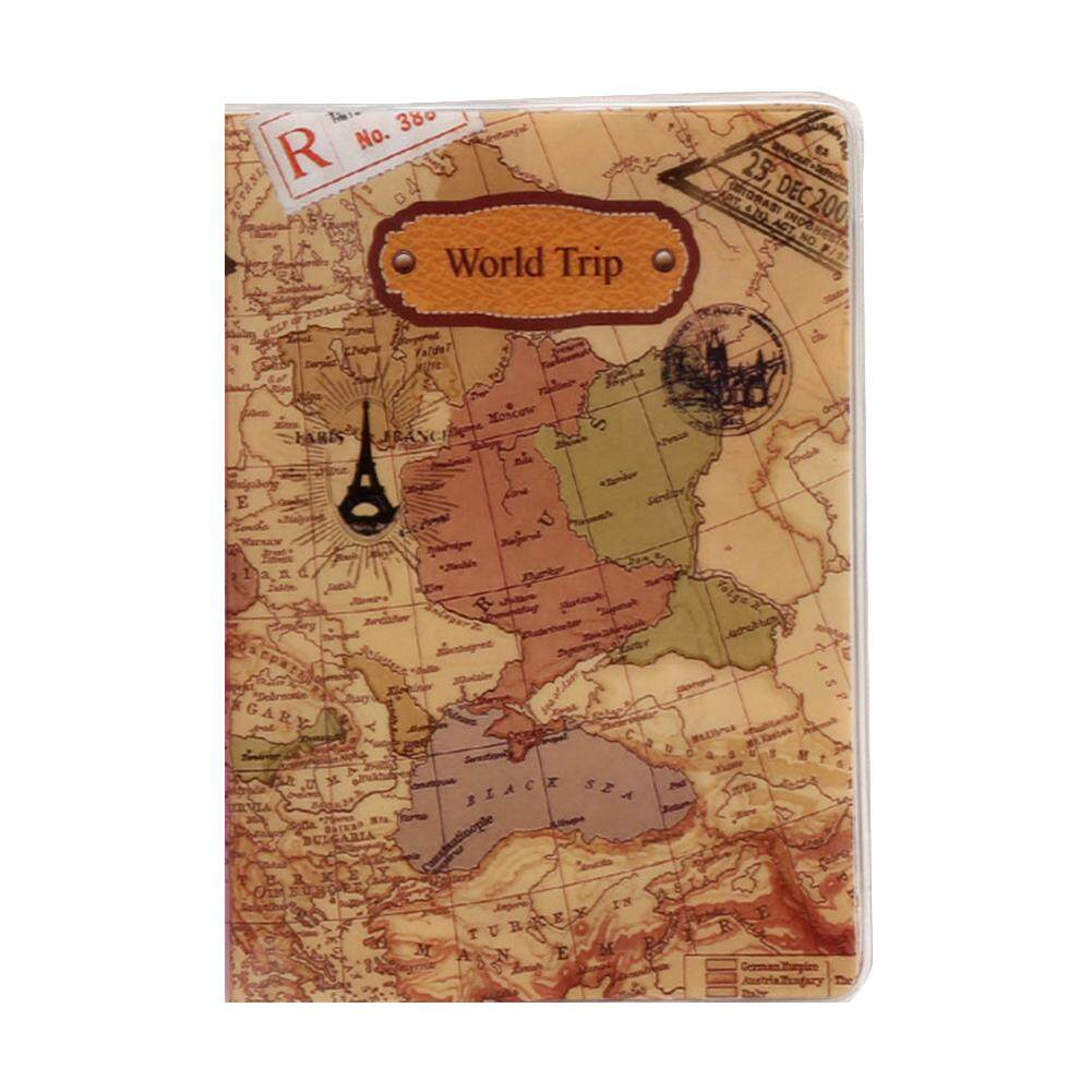 Hot Sale Fashion PVC Passport Holder World Map Travel Passport Cover Case Brand Passport Holder Documents Folder Bag #15