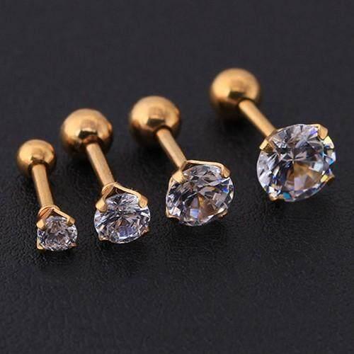 9bcb946d9 BODHI Men Women Rhinestone Cartilage Tragus Bar Helix Upper Ear Earring  Stud Jewelry (1 x Ear Stud ) | Lazada