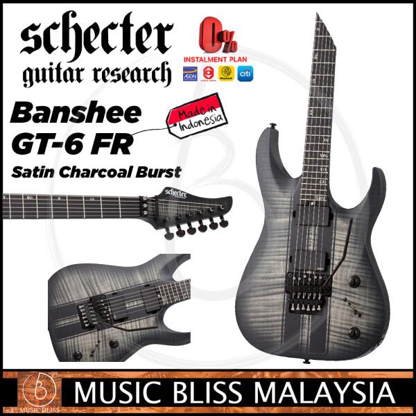 Schecter Banshee GT-6 FR - Satin Charcoal Burst (MII) Malaysia
