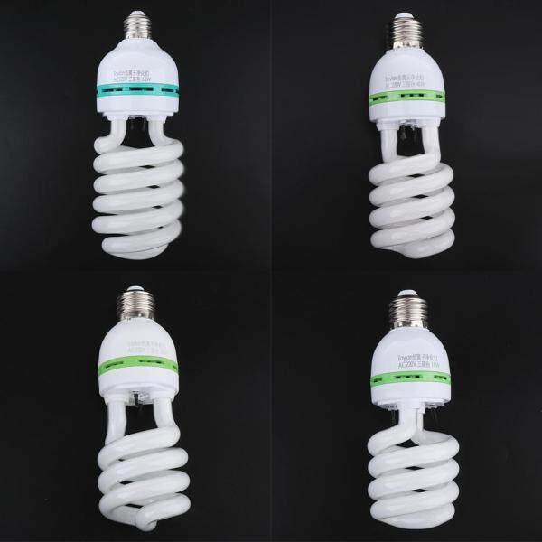 Fityle 4pcs E27 Negative Ion Spiral Light Bulb Energy Saving Air Purifier Bulb