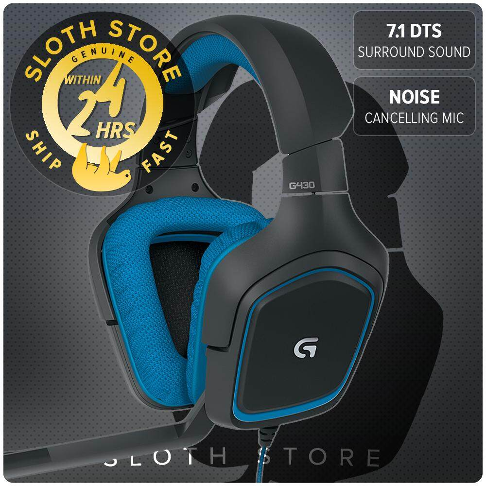 Logitech G430 7 1 DTS Headphone: X and Dolby Surround Sound, Noise  Cancelling Mic GENUINE