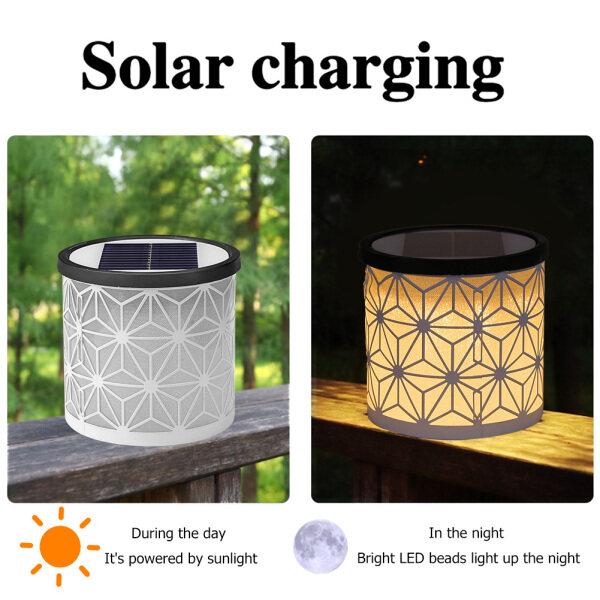 Đèn Pha LED Cột Năng Lượng Mặt Trời Đèn 2 Màu Không Thấm Nước, Đèn Chiếu Sáng Trang Trí Cảnh Quan Kênh Sân Vườn Ngoài Trời