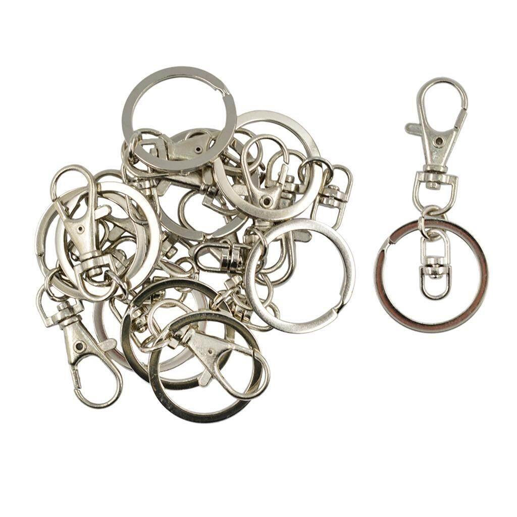 fd1c4c28c7ad GuangquanStrade 10pcs Lobster Clasp Clips Key Hook Keychain Split Key Rings  Jewelry Findings