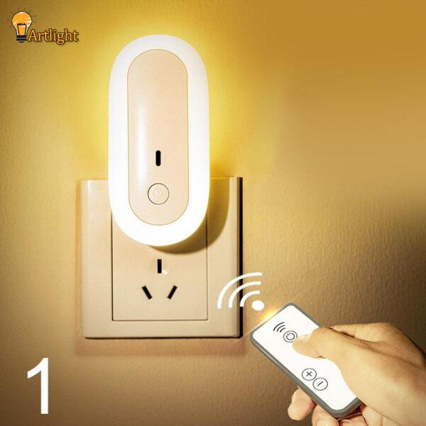LED Ánh Sáng Ban Đêm, Với Bộ Sạc Tường USB Kép Đèn Điều Dưỡng Đầu Giường Phòng Ngủ, Đèn Điều Khiển Từ Xa