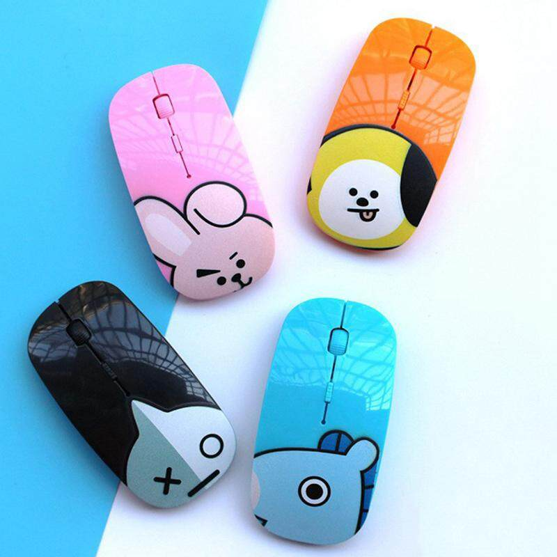 League Wireless Mouse Cartoon Laptop Office Mouse Hot BTS Wireless Silent Mouse Bulletproof Youth Malaysia