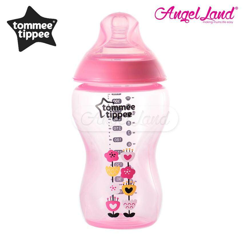 Pink HELLO Tommee Tippee 340ml 12oz Twin  Easi Vent Baby Feeding Bottles 3m