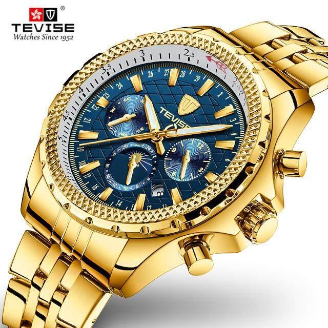 ĐỒNG HỒ CƠ TEVISE sang trọng thương hiệu thời trang đồng hồ cơ tự động nam dây giày chống nước vàng chuông Masculino Đồng Hồ Relogio bán chạy