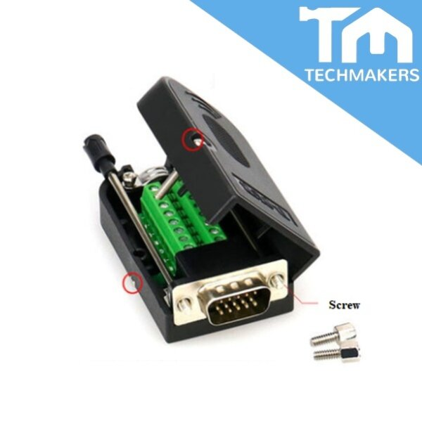 DB15 Female / Male Solderless 15 Pin VGA Port Connector Repair Kit