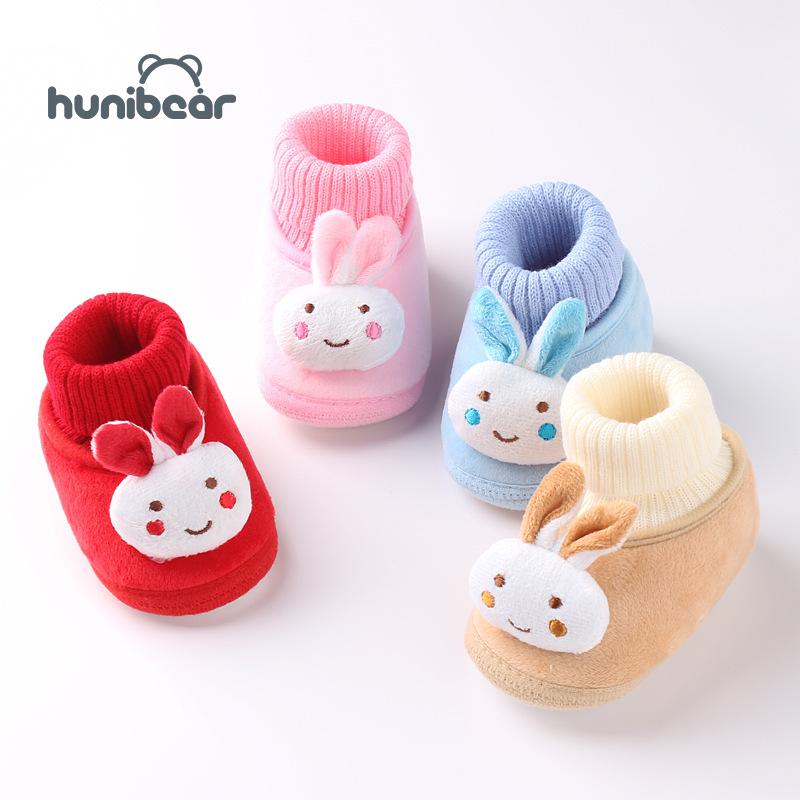 [Hunibear] Giày em bé chất liệu cotton mềm mại với đế chống trượt cho bé 0-3