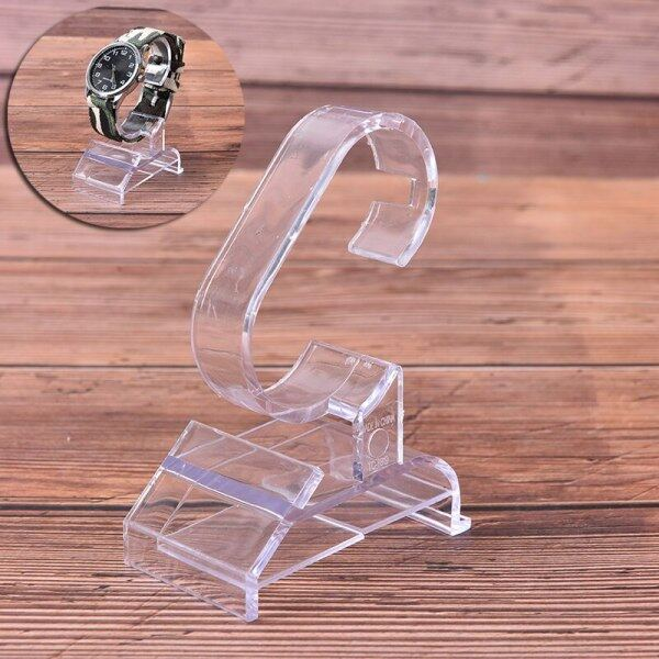 Practical Fashion Clear Acrylic Bracelet Watch Display Holder Stand Rack Showcase Tool Transparent Wristwatch Lightweight Stand Malaysia