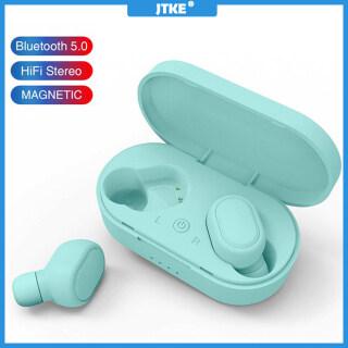 Tai Nghe Bluetooth JTKE M1 TWS Tai Nghe 5.0 Kèm Mic, Tai Nghe Thể Thao Âm Thanh Nổi, Tai Nghe Rảnh Tay Không Dây Dành Cho Tai Nghe Xiaomi thumbnail