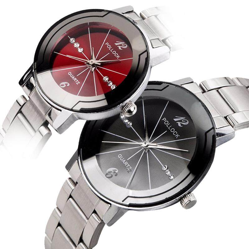 Pollock Casual Business Quartz Watch Steel Strap Simple Double Watch For Men And Women Malaysia