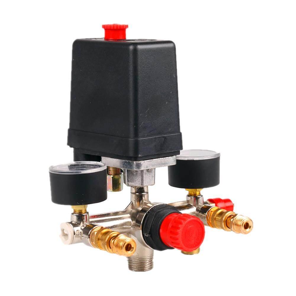 90-120PSI Manifold Air Compressor Gauges Regulator Pressure Control Relief Switch Set