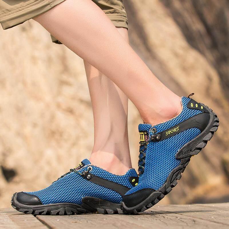 Pria Sepatu Mendaki Anti-Slip Sepatu Mendaki Trekking Mountian Sepatu Pria Luar Ruangan Sneakers By Hipuman.