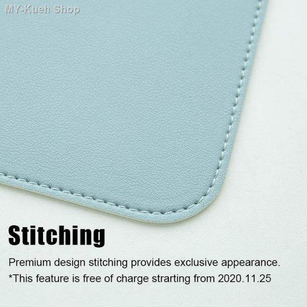 Stitched Waterproof Mousepad Office Leather Pad Non-Slip Dest Mat Double-Sided Two Color Keyboard Mat Malaysia
