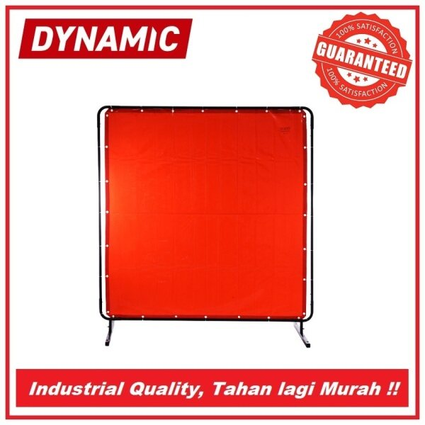 DYNAMIC Welding Curtain 1.8mtr x 1.8mtr (Green/Red) Protection for Welding Work