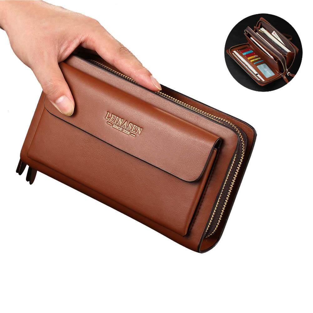 Mens wallet money clip phone Admission package High capacity Multi-bit  Casual Clutch clutch men ab44418ccc