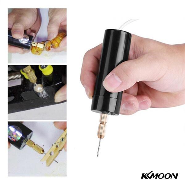 KKmoon Portable Mini Electric Drills Handheld Micro USB Drill with 3pc Bits Diy Craft Tools